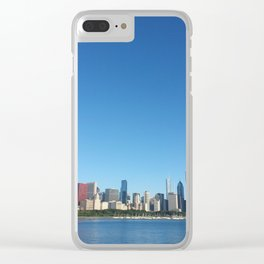 Chicago Skyline With Sears Tower Clear iPhone Case