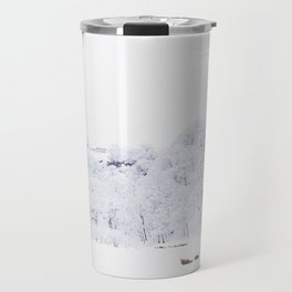 Cabin in the Snow (Color) Travel Mug