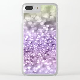 Purple Lavender Glitter #1 #shiny #decor #art #society6 Clear iPhone Case