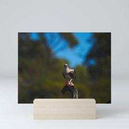 An Osprey Perched With Its Prey Mini Art Print