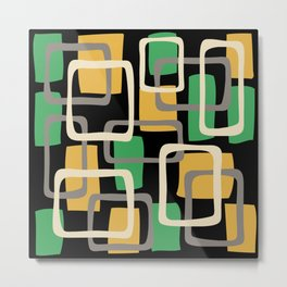 Mid Century Modern Overlapping Squares Pattern 143 Metal Print