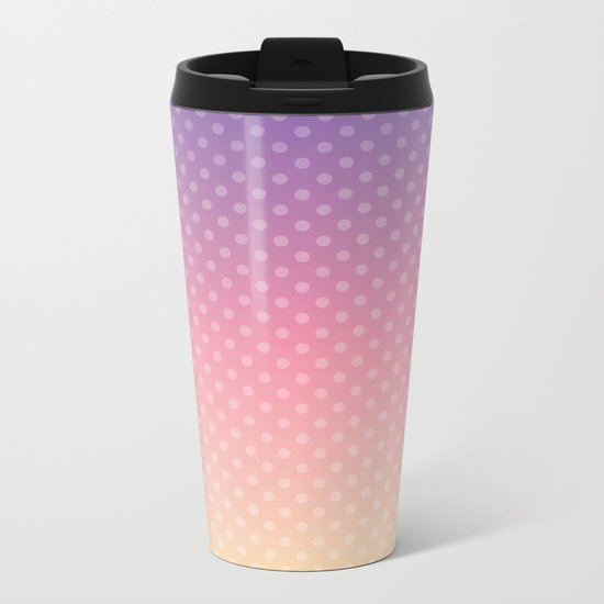 Lilac pink yellow Ombre . Metal Travel Mug