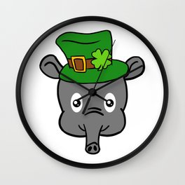 Leprechaun Tapir- St. Patricks Day Wall Clock