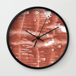Gently brown wave wash drawing Wall Clock