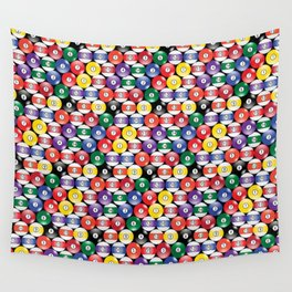 Billiards Pool Player Game Pattern Wall Tapestry