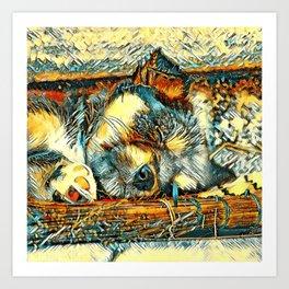 AnimalArt_Dog_20170906_by_JAMColorsSpecial Art Print