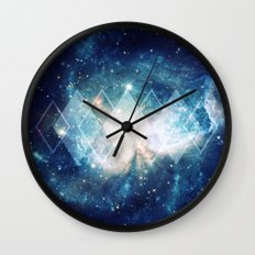 Shining Nebula - Blue Wall Clock
