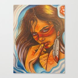 taina warrior Canvas Print