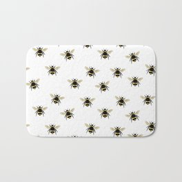 Bumble Bee pattern Bath Mat
