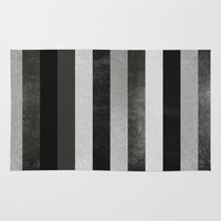 noir Area & Throw Rugs featuring Noir by Elisabeth Fredriksson