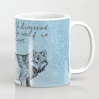 literary Mugs featuring White Fang - Jack London - Literary Art by pithyPENNY