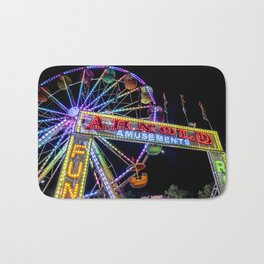 Ferris Wheel at Carnival Bath Mat