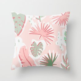 Tropical cut out pattern Throw Pillow
