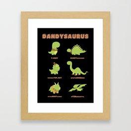 DANDYSAURUS - Dark Version Framed Art Print