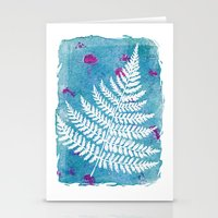 fern Stationery Cards featuring Fern  by messy bed studio