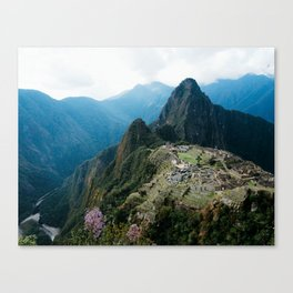 Flowers Before Machu Picchu Canvas Print