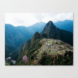 Flowers Before Machu Picchu Canvas Print