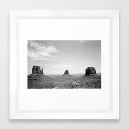 Monument Valley // Three Sisters Framed Art Print
