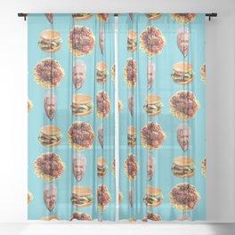 Flavortown, USA (Guy Fieri) Sheer Curtain