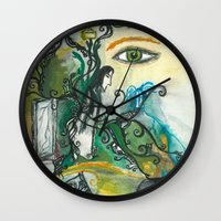 snape Wall Clocks featuring Soul of Snape by Springfae