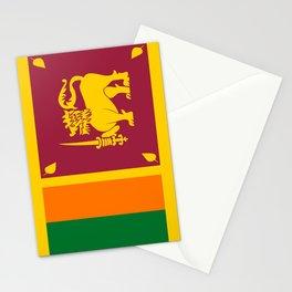 Flag of sri Lanka -ceylon,India, Asia,Sinhalese, Tamil,Pali,Buddhist,hindouist,Colombo,Moratuwa,tea Stationery Cards