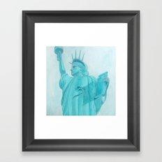 BROOKLYN LIBERTYsquared - metal print Framed Art Print