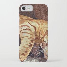 Morning cat iPhone Case
