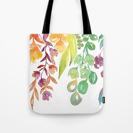 """Colorful ombre watercolor bouquet, """"Lindsay"""" Tote Bag"""