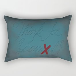 Think For Your Elf Rectangular Pillow