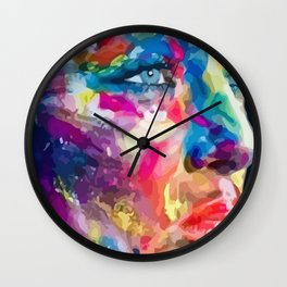 Meditative Woman Wall Clock