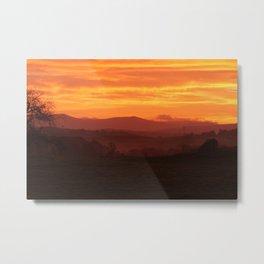 Lakes Sunrise Metal Print