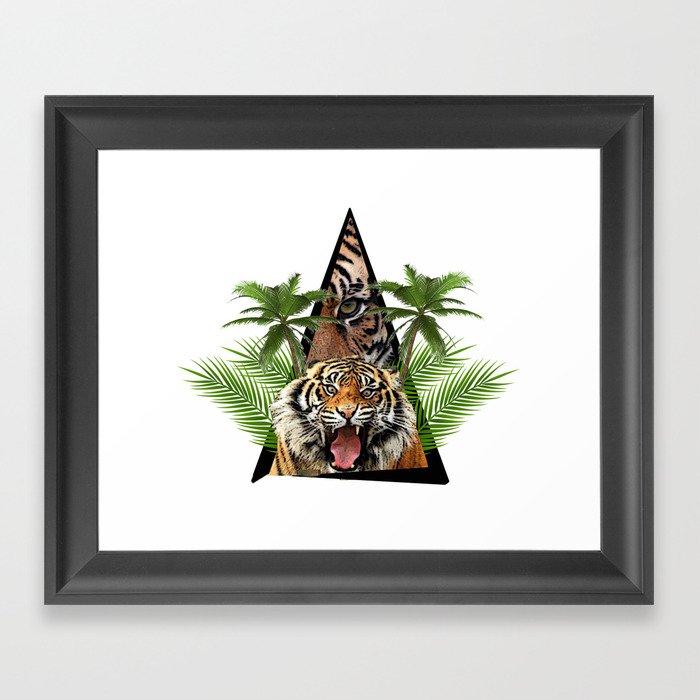 Tiger Jungle ArtWork Framed Art Print
