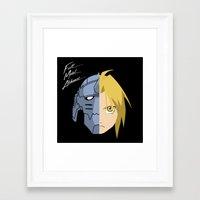 fullmetal Framed Art Prints featuring Fullmetal Alchemist/RAM by 5eth