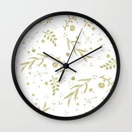Golden Nature Scene Wall Clock