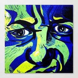 My emotive face in the spring Canvas Print