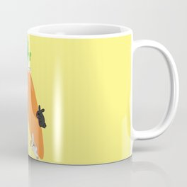 Giant Carrot and Bunnies Coffee Mug