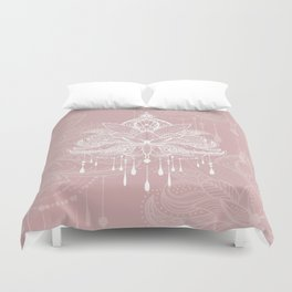 Blush mandala Duvet Cover