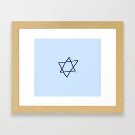 Star of David 14- Jerusalem -יְרוּשָׁלַיִם,israel,hebrew,judaism,jew,david,magen david Framed Art Print