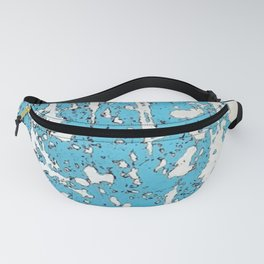 Old chipping paint as abstract artwork Fanny Pack