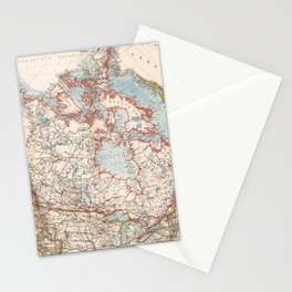 Vintage Map of Canada (1905) Stationery Cards