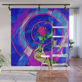 Beauty And The Beast Red Rose Flower Wall Mural