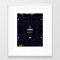 pac man Framed Art Prints featuring Pac Man by Trash Apparel