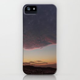Flying face iPhone Case