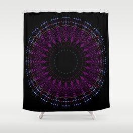 Futuristic Zen tangle Mandala art Shower Curtain