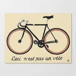 Ceci n'est pas un vélo Canvas Print