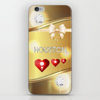 houston iPhone & iPod Skins featuring Houston 01 by Daftblue