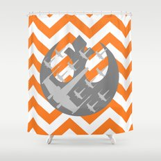 Star Wars Wraith Squadron and Chevrons Shower Curtain