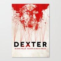 dexter Canvas Prints featuring DEXTER by Michael Scott Murphy