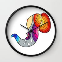 boob Wall Clocks featuring Flying Boob by Joe Pansa