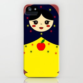 Snow White Nesting Doll iPhone Case